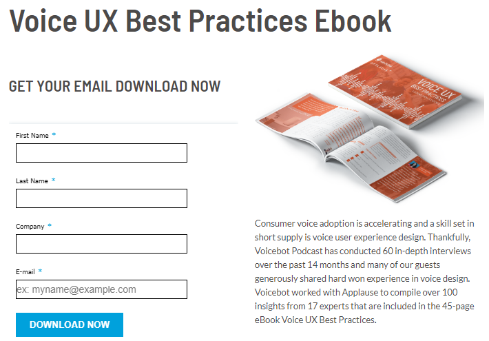 voice ux best practice ebook